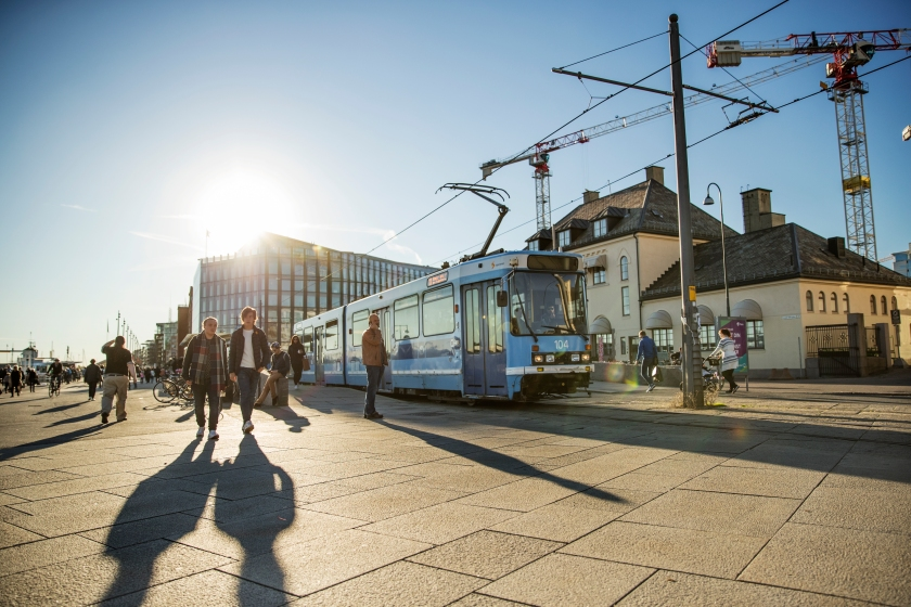 Oslo tram Aker Brygge