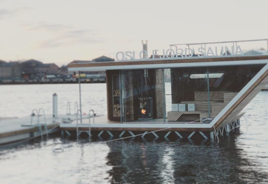 Floating sauna in Oslo.