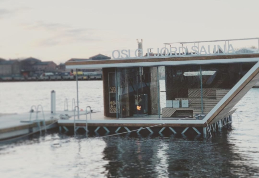 Floating sauna in Oslo.